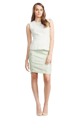 Nicola Finetti - Pencil Hem Dress - Front - Green