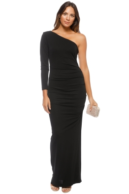 Nicole Miller - One Shoulder Gown - Front