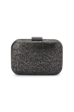 Olga Berg - Ana Woven Metallic Clutch - Black - Product