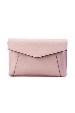 Olga Berg - Andrea Wide Foldover Clutch - Blush - Front