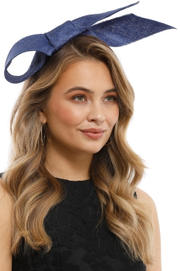 Olga Berg - Danica Sinamay Bow Fascinator - Navy - Product