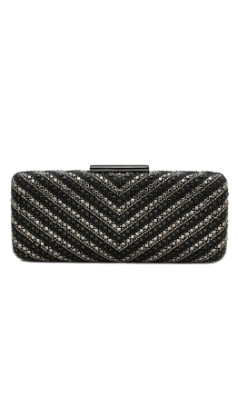 Olga Berg - Gia Chevron Hot Fix Pod - Black - Front