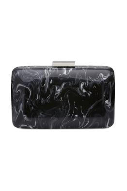 Olga Berg - Marbellous Swirly Acrylic Pod - Black White - Front