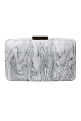 Olga Berg - Marbellous Swirly Acrylic Pod - White