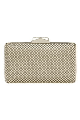 Olga Berg - Natasha Ball Mesh Pod - Light Gold - Front