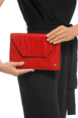 Olga Berg - Starlight Clutch - Red - Product