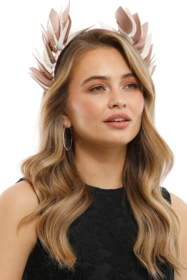 Olga Berg - Cassie Goddess Headband - Blush White - Model