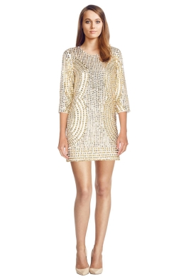 Parker Black Petra Dress - Front - Gold