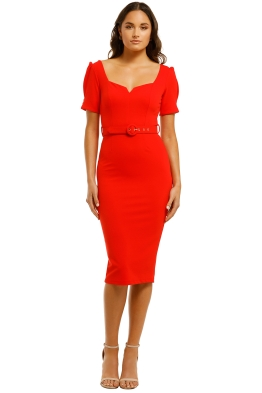 Pasduchas-Cascade-Sleeve-Midi-Dress-Poppy-Front