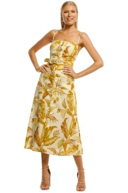 Pasduchas-Hazy-Belt-Midi-Dress-Golden-Front