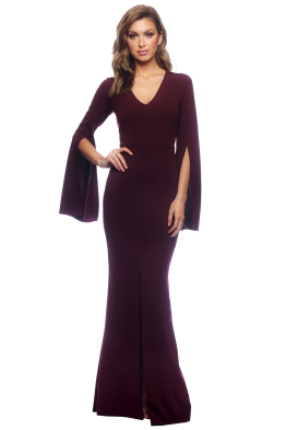Amaryllis Gown - Wine - Front