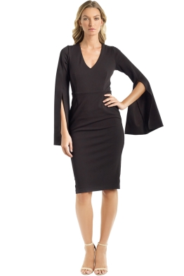 Pasduchas - Amaryllis Midi Dress - Black - Front
