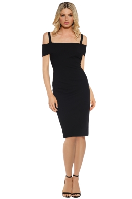 Pasduchas - Angelina Midi Dress - Black - Front