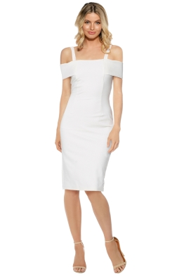 Pasduchas - Angelina Midi Dress - Ivory - Front