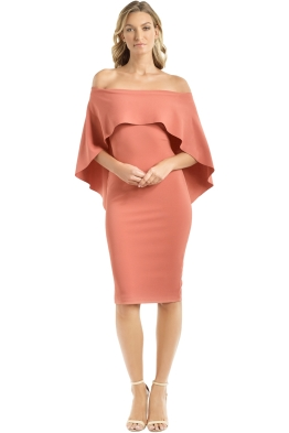 Pasduchas - Composure Midi Dress - Tuscan Rose - Front