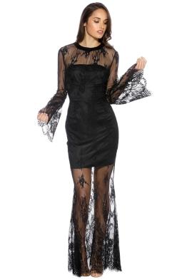 Pasduchas - Luna Gown - Black - Front