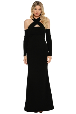 Pasduchas - Lyric LS Gown - Black - Front