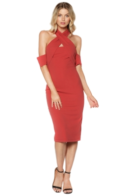 Pasduchas - Lyric Midi Dress Tuscan Rose - Front