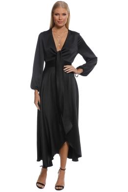 Pasduchas - Mercury Midi Dress - Black - Front