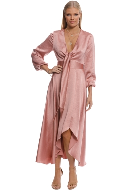 Pasduchas - Mercury Midi Dress - Blush - Front