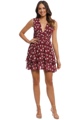 Pasduchas - Pom Pon Dress - Berry - Front