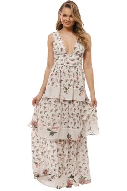 Pasduchas - Pom Pon Maxi Dress - Ivory - Front