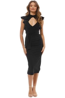 Pasduchas - Pow Wow Midi Dress - Black - Front