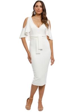 Pasduchas - Tuscan Midi Dress - Ivory - Front
