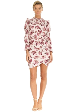 Pasduchas - Valencia Dress - Blush Floral - Front