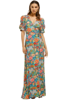 Perseverance London-Elysian Maxi Dress-Multi-Front