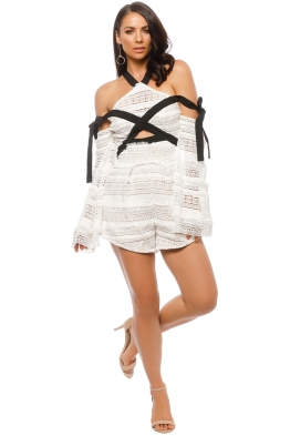 Premonition - Faithful Playsuit - White - Front