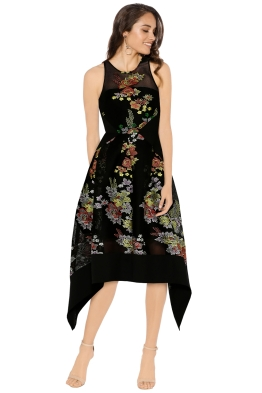 Premonition - Secret Garden Dress - Black Floral - Front