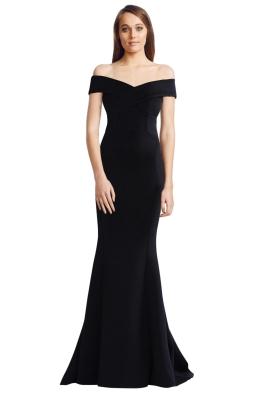 Rachel Gilbert - Enico Gown - Black - Front