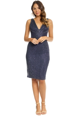 Rachel Gilbert - Layla Dress - Navy Sequin - Front