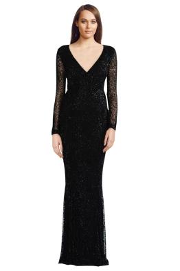 Rachel Gilbert - Paityn Gown - Black - Front