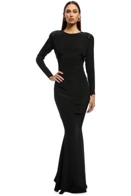 Rachel Gilbert - Starla Gown - Black - Front