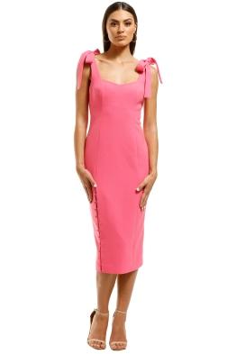Rebecca-Vallance-Cortona-Midi-Dress-Pomegranite-Front