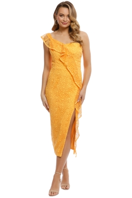 Rebecca Vallance - Baha Strapless Midi Dress - Yellow - Front