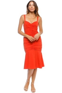Rebecca Vallance - Brescia Midi Dress - Orange - Front