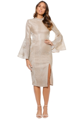 Rebecca Vallance - Cancun Deep V Midi Dress - Front