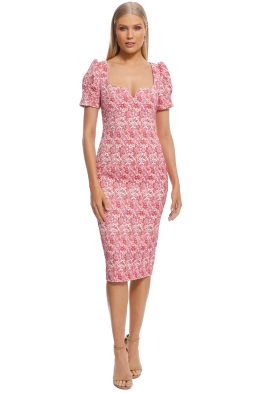 Rebecca Vallance - Estelle Dress - Ivory Floral - Front