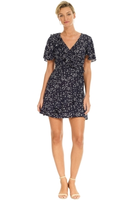 Rebecca Vallance - Flores Wrap Dress - Blue Dot - Front