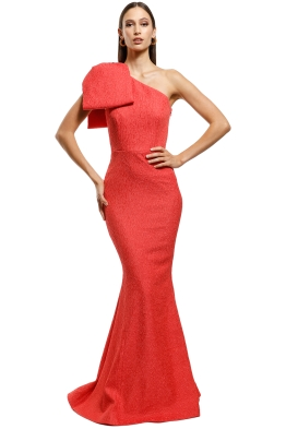 Rebecca Vallance - Francesca Gown - Coral - Front