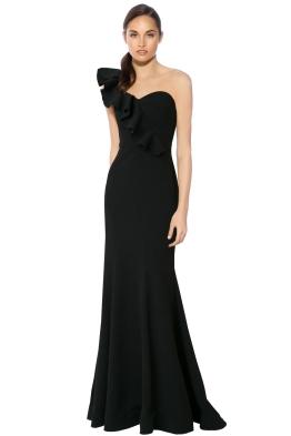 Rebecca Vallance - Gigi Bustier Gown - Black - Front