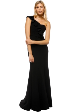 Rebecca Vallance - Gigi Bustiere Gown - Black - Front