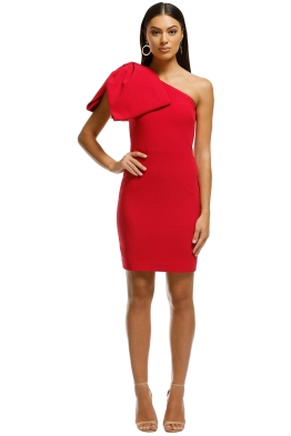 Rebecca Vallance - Hamptons Mini Bow Dress - Poppy Red - Front