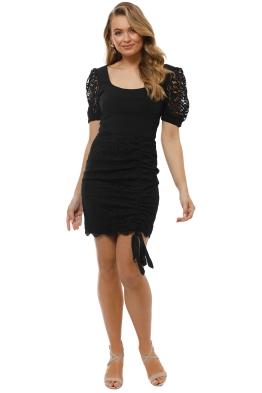 Rebecca Vallance - Le Saint Lace Mini Dress - Black - Front