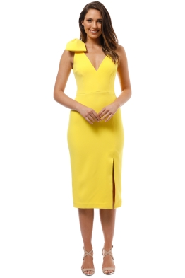 Rebecca Vallance - Love Bow Dress - Yellow - Front
