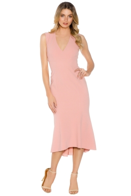 Rebecca Vallance -  Ravena Dress Lace Up Back - Blush Pink - Front