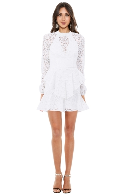 Rebecca Vallance - Sistine Frill Mini Dress - Front